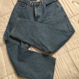LL Bean double L relaxed fit jeans.